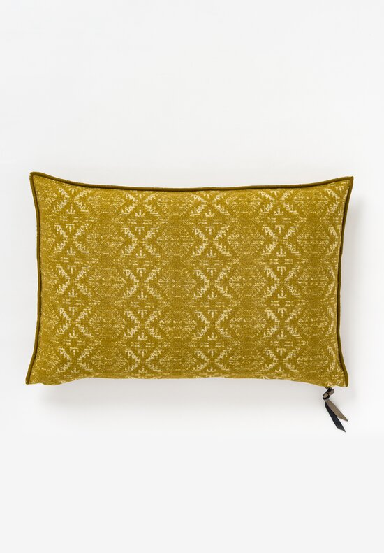 Maison de Vacances Canvas Hopi Pillow in Ocre