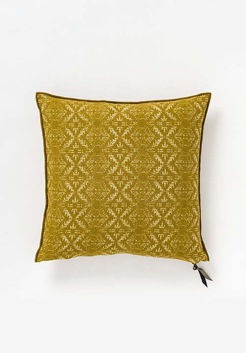 Maison de Vacances Canvas Hopi Square Pillow in Ocre
