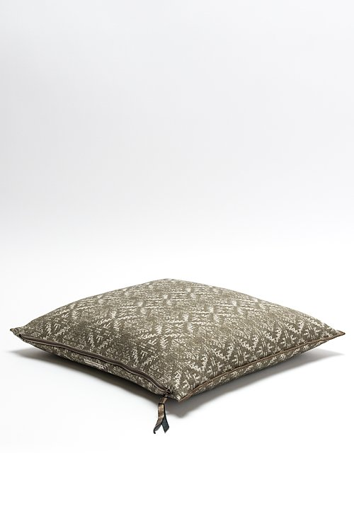 Maison de Vacances Canvas Hopi Square Pillow in Ecorce