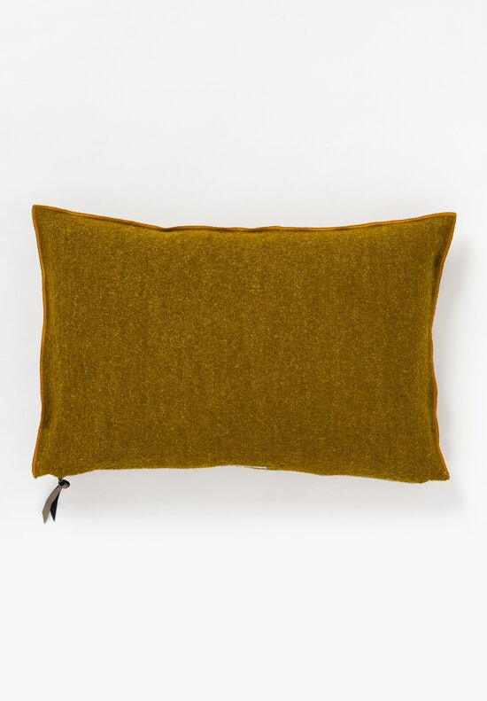 Maison de Vacances Canvas Bouclette Pillow in Ocre