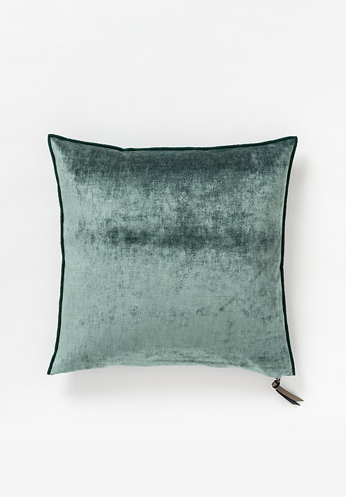 Maison de Vacances Royal Velvet Square Pillow in Canard