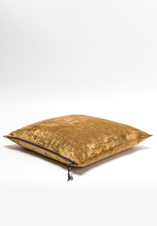 Royal Velvet Square Pillow in Havane