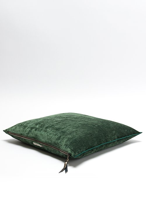 Royal Velvet Square Pillow in Avocat