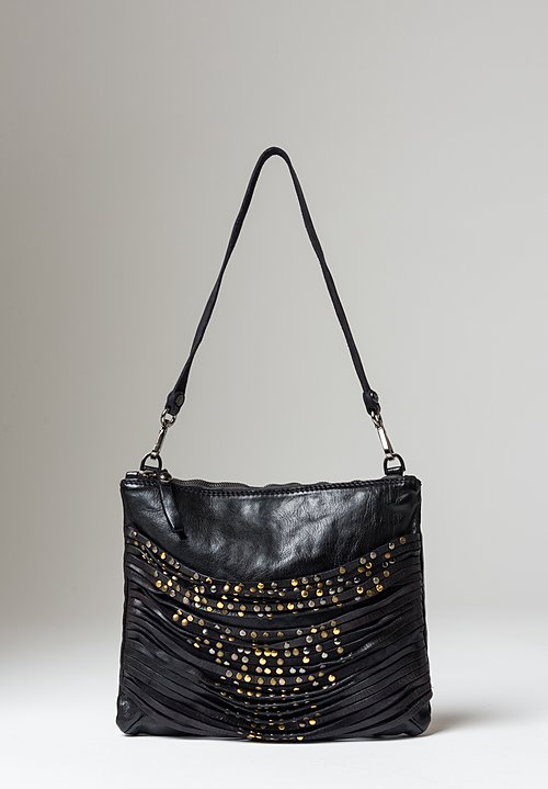 Campomaggi Riveted Straps Sachet Bag in Black