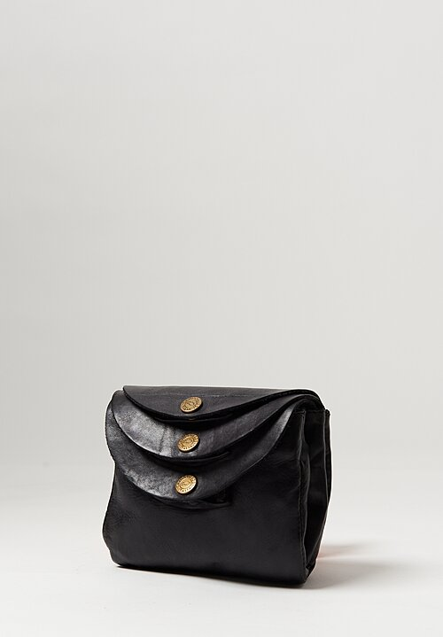 Campomaggi Small Three Pocket Shoulder Bag in Black