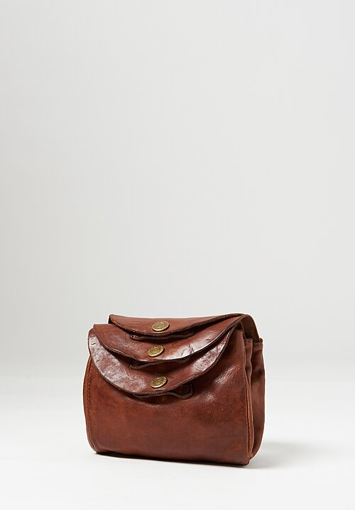 Campomaggi Small Three Pocket Shoulder Bag in Cognac