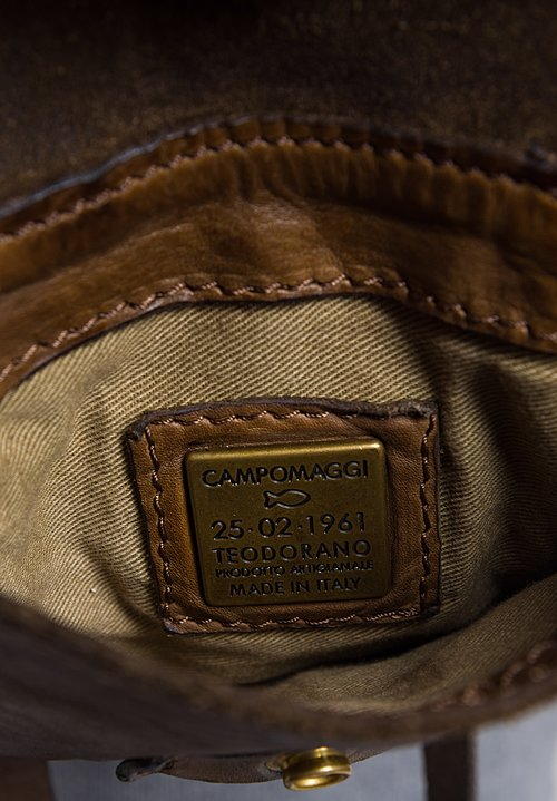 Campomaggi Small Three Pocket Shoulder Bag in Military