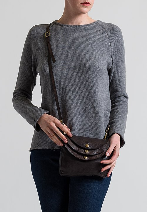 Campomaggi Medium Three Pocket Shoulder Bag in Grey