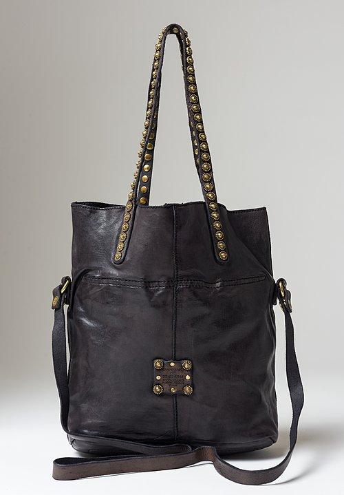 Campomaggi Onice Studded Tote Bag in Grey