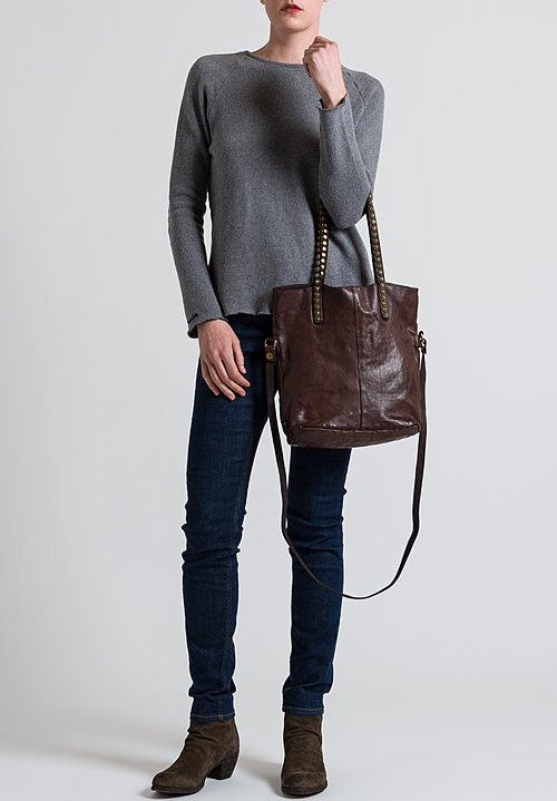 Campomaggi Onice Studded Tote Bag in Brown
