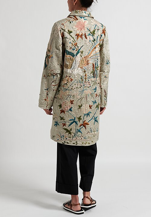 By Walid Chinese Panel Clara Coat in Sage