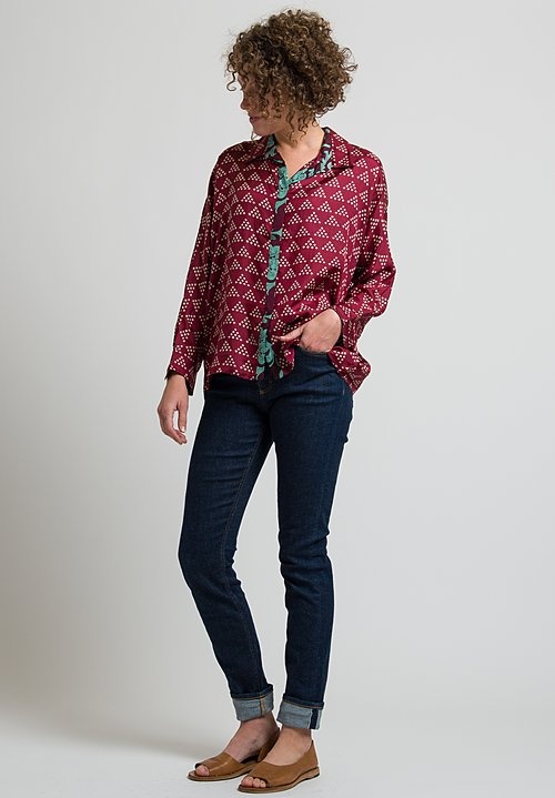 Lisa Corti Dahlia Shirt in Pyramid Rany