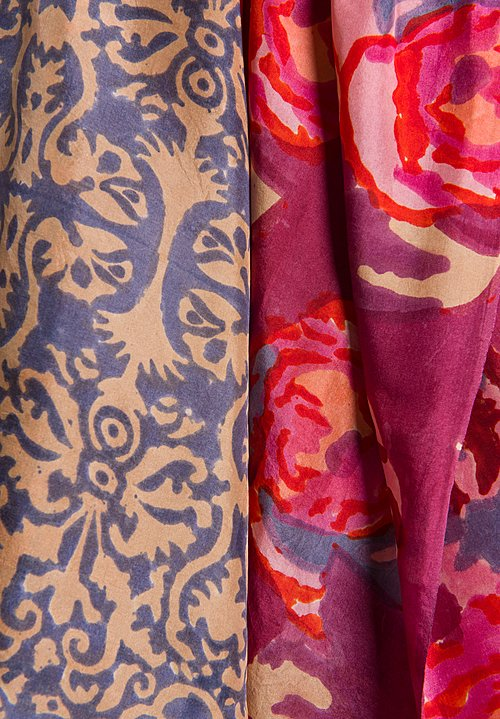Lisa Corti Silk Scarf Printed in Nizam Warm