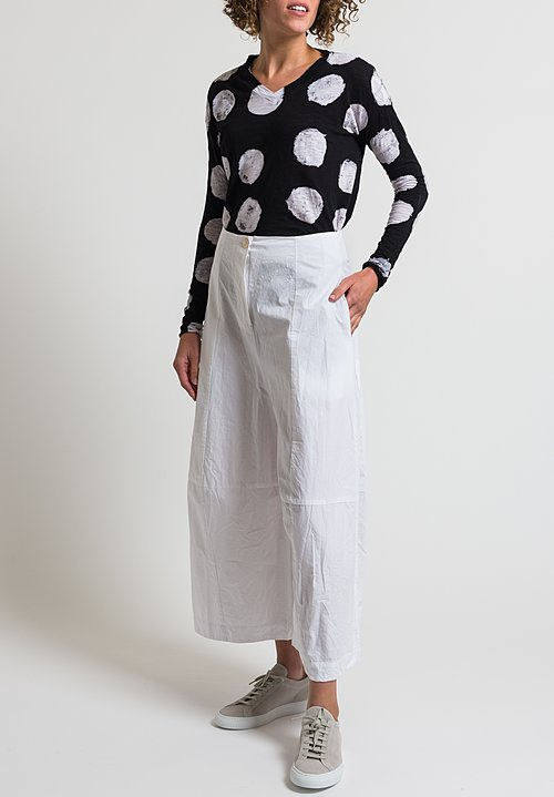 Gilda Midani Cotton Egg Pants in White