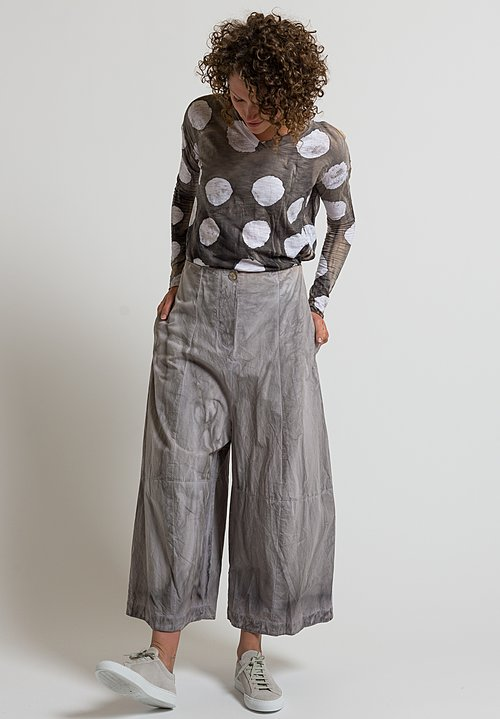 Gilda Midani Cotton Egg Pants in Cement