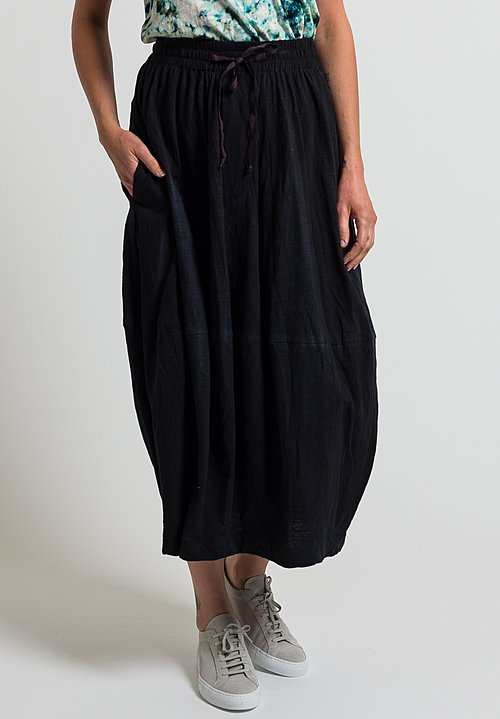 Gilda Midani Solid Dyed Skirt in Black