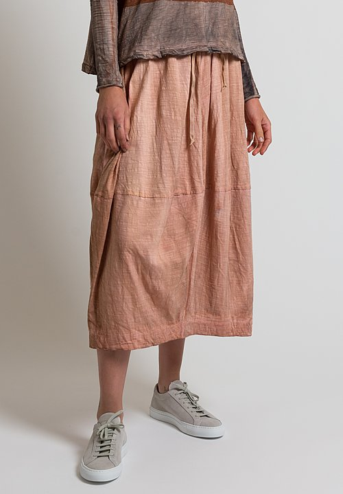 Gilda Midani Solid Dyed Skirt in Clay