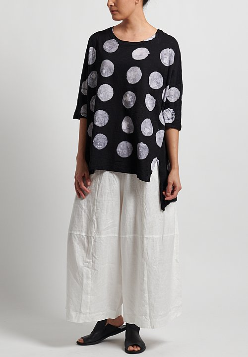 Gilda Midani Super Tee in Pois Black + White