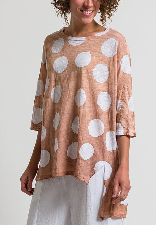 Gilda Midani Super Tee in Pois Clay + White