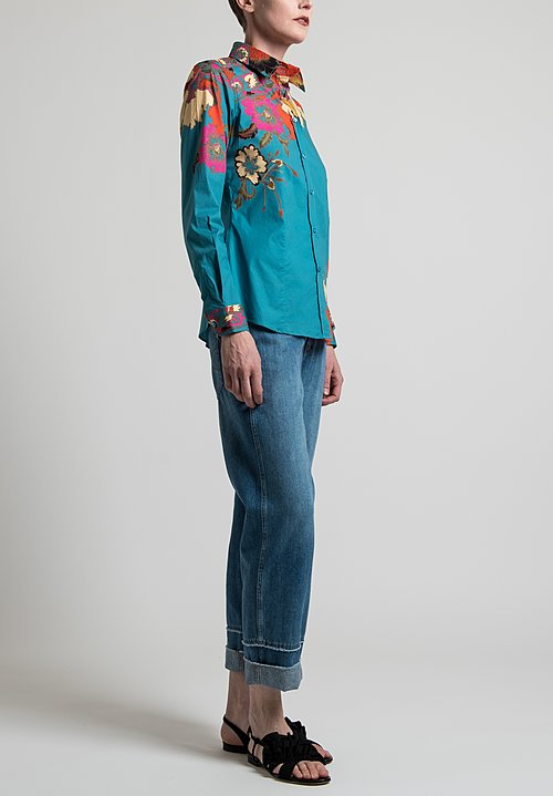 Etro Floral Shirt in Light Blue