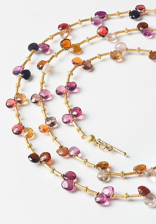 Greig Porter 18K Long Faceted Tourmaline Necklace