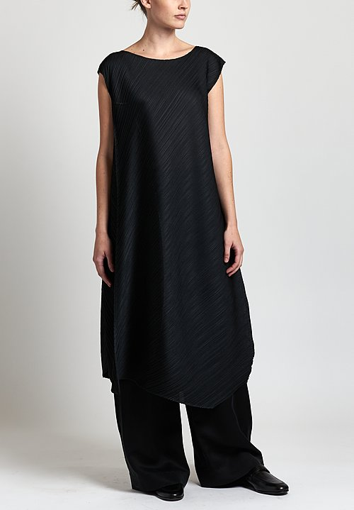 Pleats Please Flow Pleated Tunic in Black