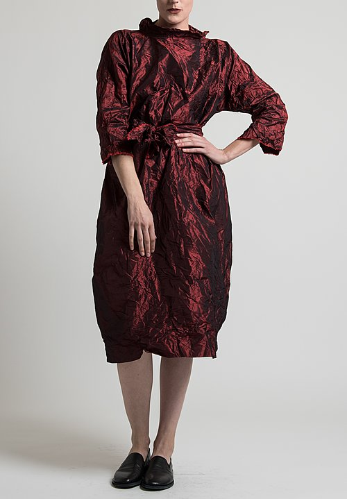 Daniela Gregis Luciana Melograno Dress in Dark Red