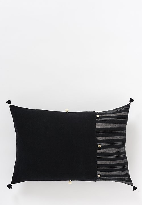 Handmade Organic Cotton Lumbar Pillow in Jat 04