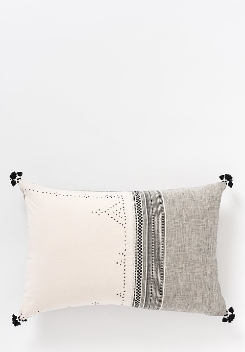 Handmade Organic Cotton Lumbar Pillow in Jat 13