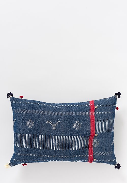Handmade Cotton Lumbar Pillow in Nila 21