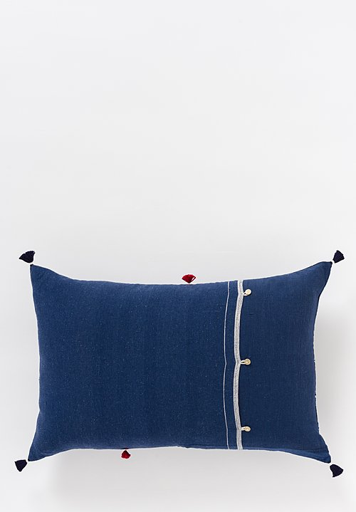 Handmade Cotton Lumbar Pillow in Nila 23