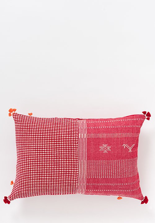 Handmade Organic Cotton Lumbar Pillow in Mutwa 12