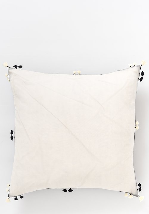 Handwoven Cotton Square Pillow in Rebari 43A