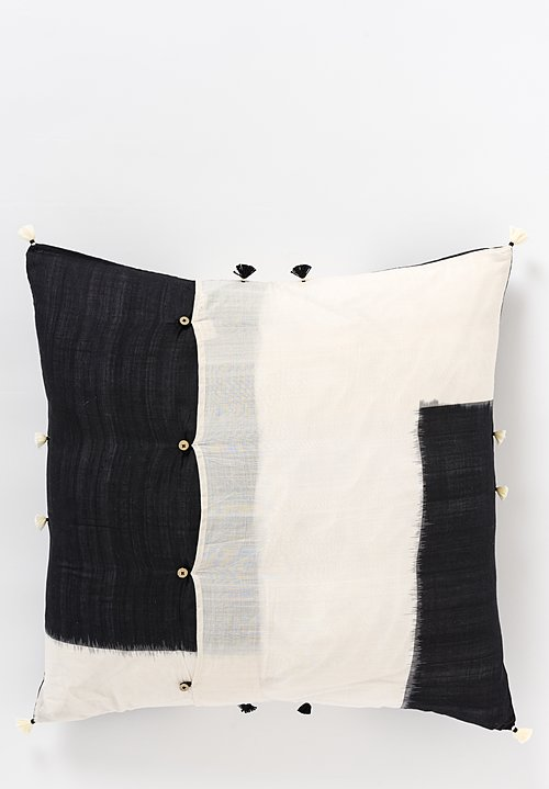 Handwoven Cotton Square Pillow in Rebari 44A