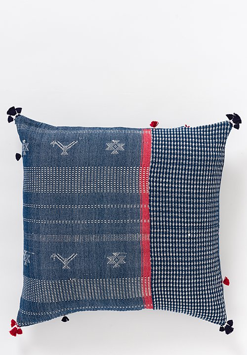 Handmade Cotton Square Pillow in Nila 28