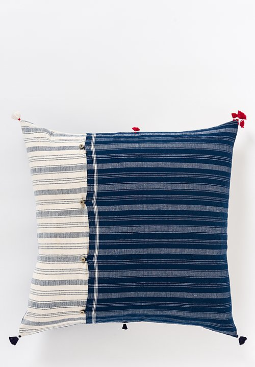 Handmade Cotton Square Pillow in Nila 32