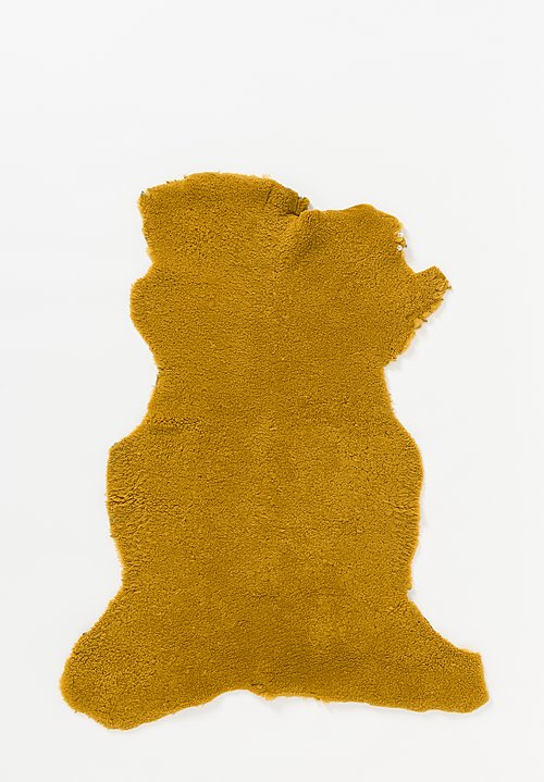 Maison de Vacances Dyed Bouclette Sheep Skin in Ocre