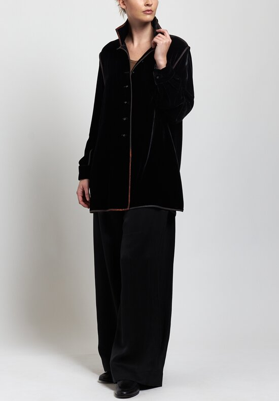 Sophie Hong Velvet Jacket in Black