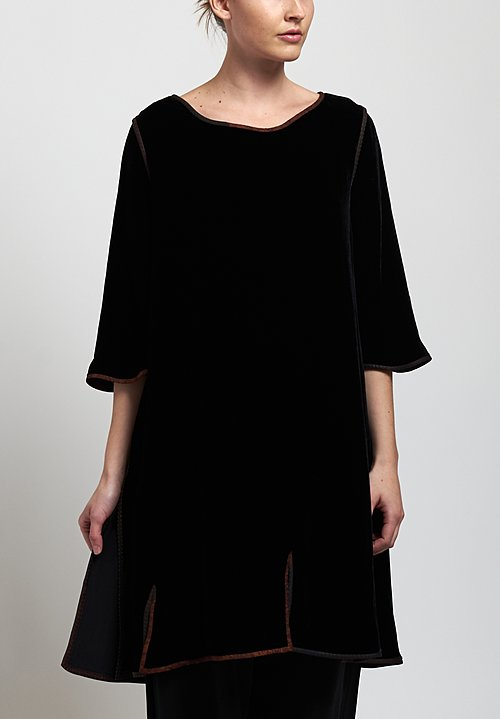 Sophie Hong Velvet Dress in Black
