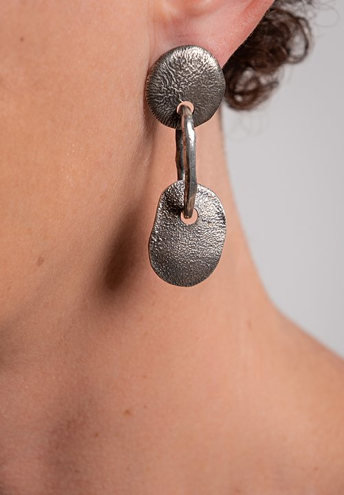 Holly Masterson Silver Organic Link & Drop Earrings