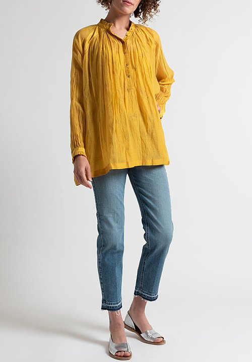 Péro Peasant Top in Yellow