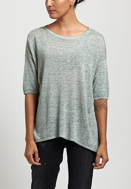 Avant Toi Oversized Lightweight Linen Top in Salice