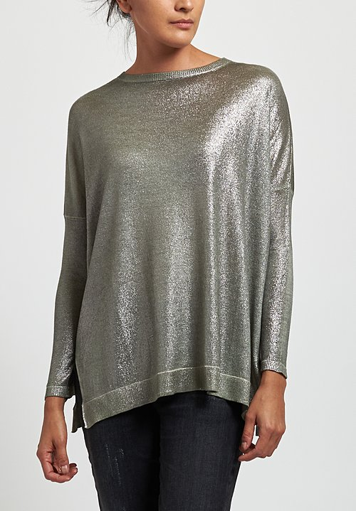 Avant Toi Oversized Metallic Sweater in Salice