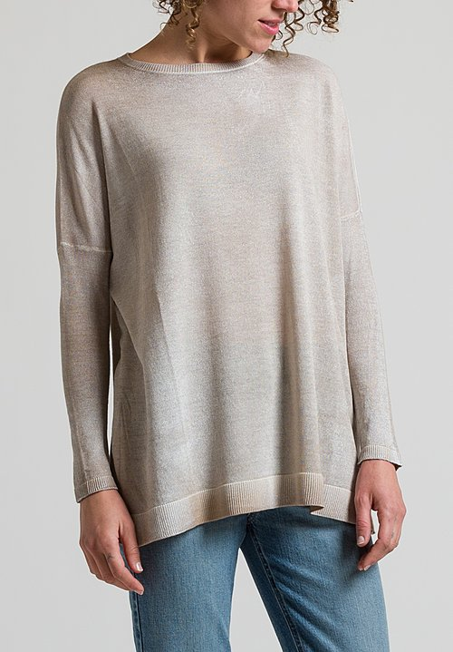 Avant Toi Oversized Overdyed Sweater in Sardi