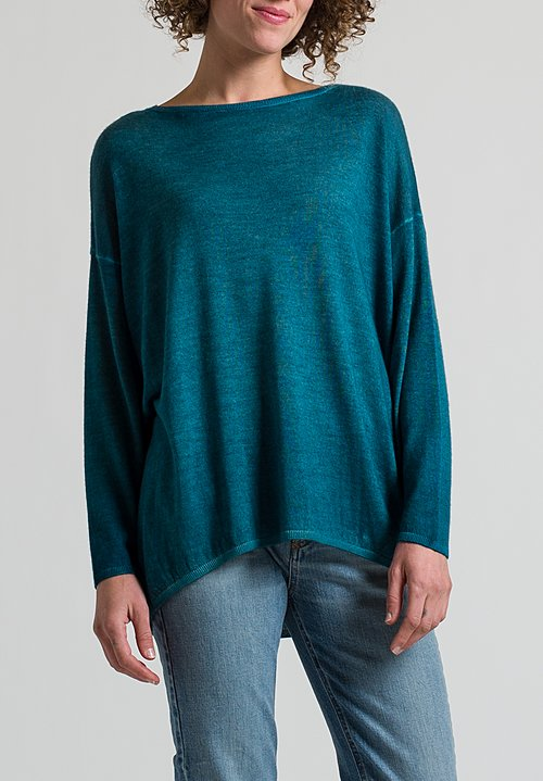 Avant Toi Oversized Sweater in Light Turchese