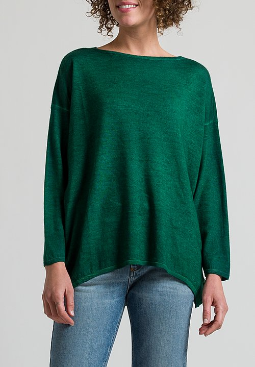Avant Toi Oversized Sweater in Light Smeraldo