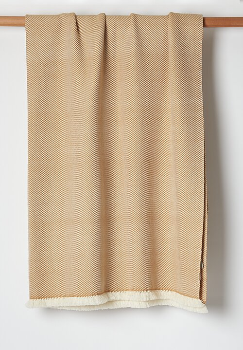 Umrao Wool Single Knot Tassel Throw in Butterscotch
