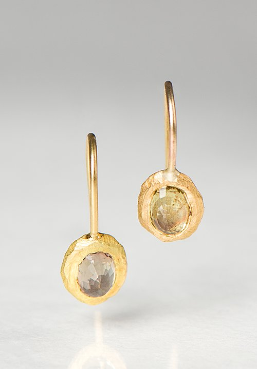 Page Sargisson 18K, Oval Sapphire Earrings