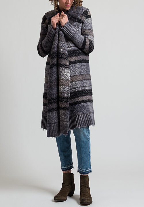 Dune Wool/Alpaca Duster in Gray
