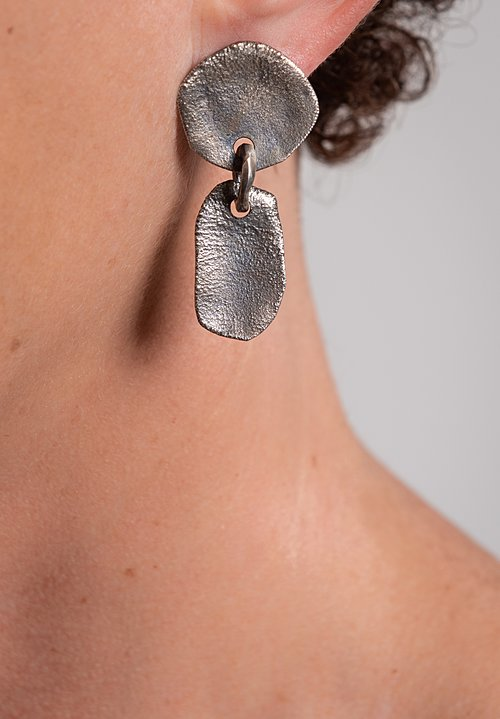 Holly Masterson Hand-Formed Asymmetric Drop Earrings